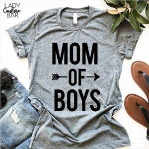 Mom of Boys Tshirt, Mom Life Tshirt, Mom Shirt